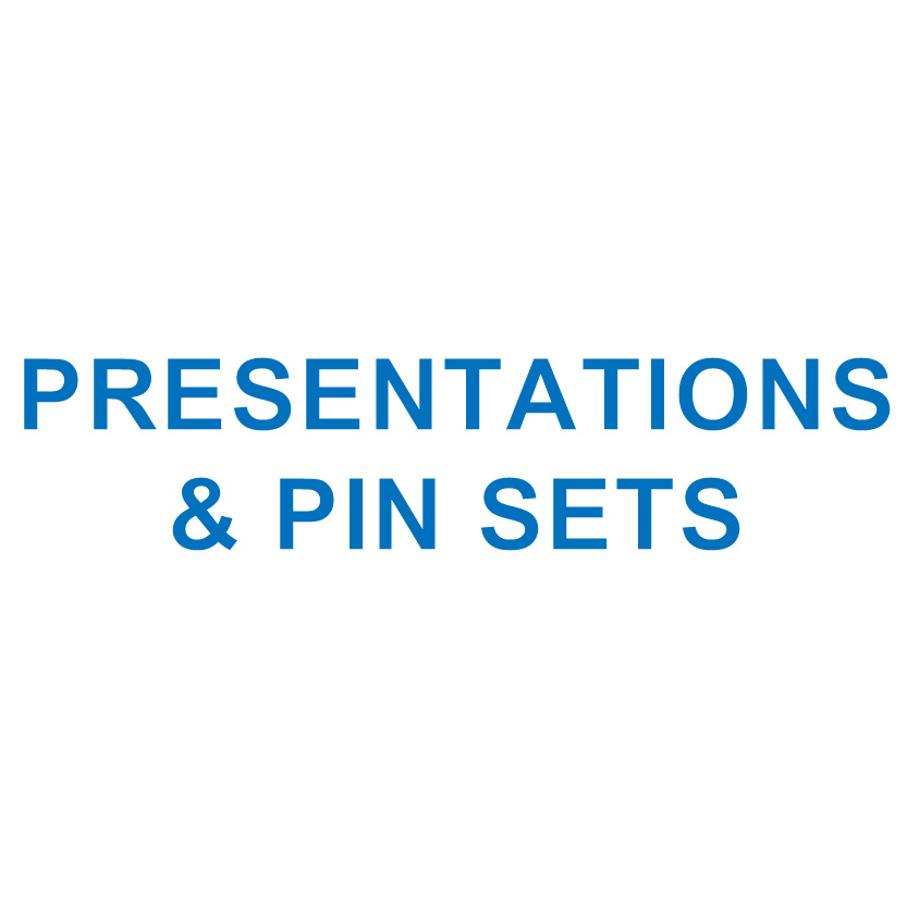 PRESENTATIONS & PIN SETS