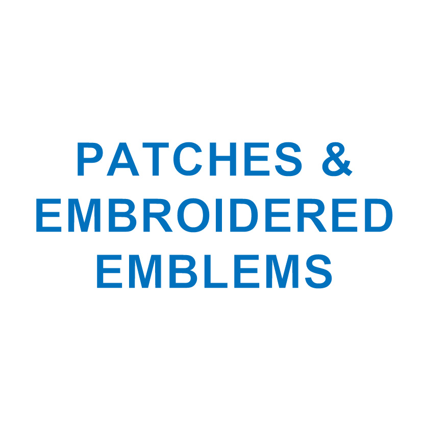 PATCHES & EMBROID. EMBLEMS